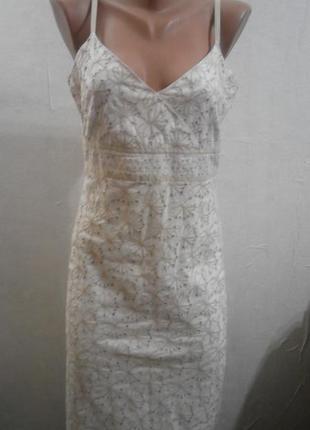 Платье сарафан с прошвой