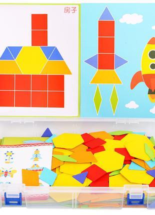 Геометрический пазл мозаика «Сложи узор» 206 дет.
