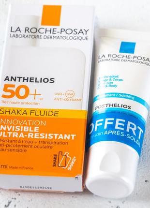 Набор солнцезащитный крем для лица la roche posay shaka fluid+...