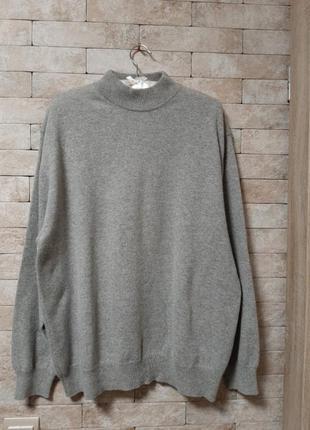 Меланжевый свитер  реглан из кашемира