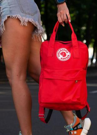 Рюкзак fjallraven kanken красного цвета
