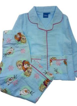 Байковая пижама на девочку  фрозен