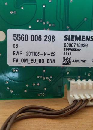 Плата индикации стиральная машина Bosch maxx 6 WAE 24440 OE/01