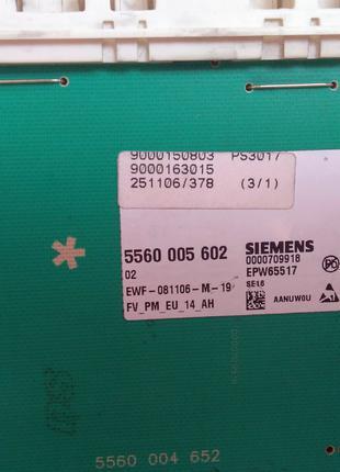 Плата управления стиральная машина Bosch maxx 6 WAE 24440 OE/01