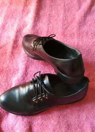 Подростковые/школьные кожаные туфли
