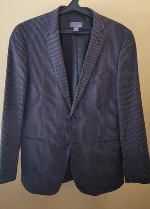 Мужской льняной пиджак зауженного кроя H&M