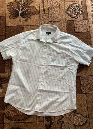 Большая рубашка с коротким рукавом