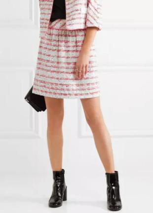 Boutique moschino твидовая юбка в полоску размер us 6