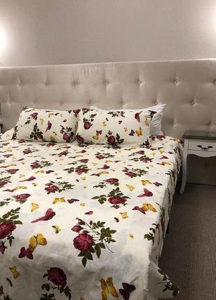 Комплект постельного белья роза и бабочки