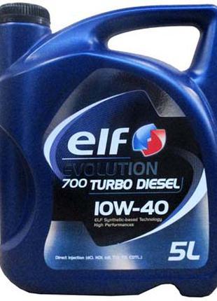 Моторное масло ELF 10w40 Evolution 700 Turbo Diesel 5л