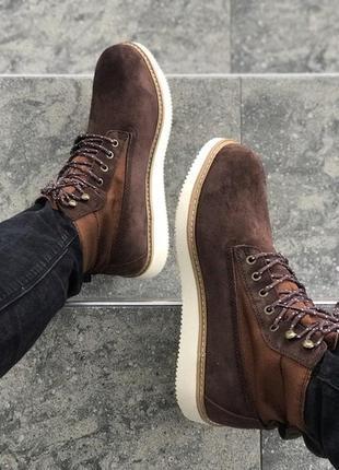 Мужские демисезонные ботинки тимберленд timberland brown.