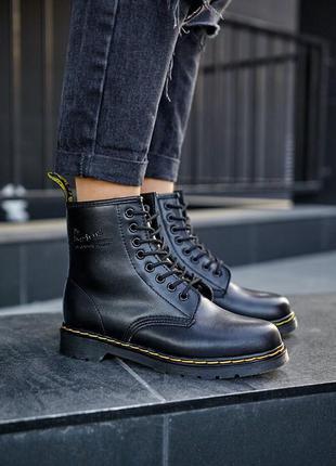 Мужские кожаные ботинки dr. martens 1460 black черного цвета...