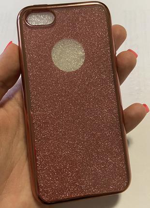 Блестящий силиконовый чехол, бампер на айфон Apple iPhone 5, 5S