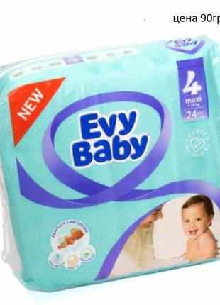 Подгузники Evy Baby размер 4, 7-18 кг, 24 шт