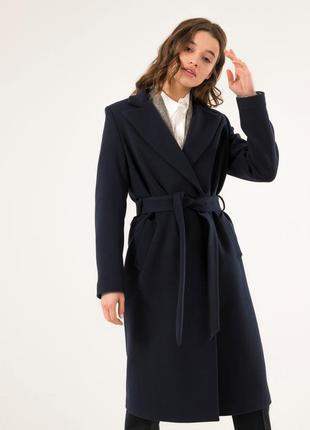 Модное осеннее пальто season дороти темно-синего цвета