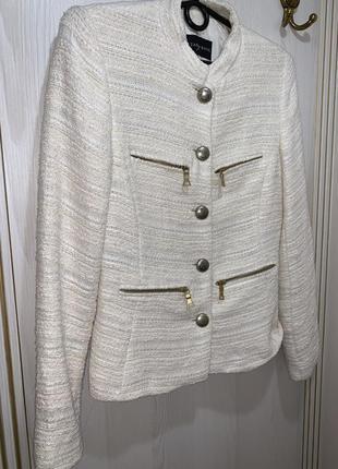 Шикарный твидовый пиджак куртка от zara размер с-м