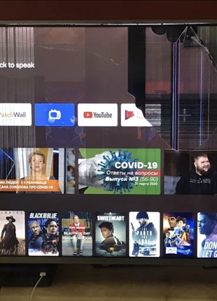 """Телевизор Xiaomi Mi LED TV 4S 43"""" UHD Разбита матрица. На Запчаст"""
