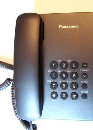 Стационарный телефон Panasonic KX-TS2350UA черный, новый