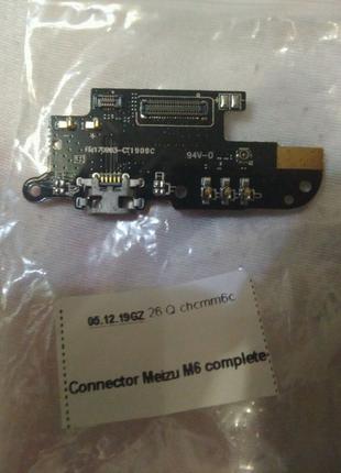 Разъем зарядки Meizu M6 с нижней платой