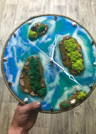 """Настенные часы """" Paradise islands"""""""