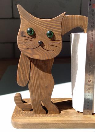 """SALE -20% Подставка для бумажных полотенец """"Кошка"""""""