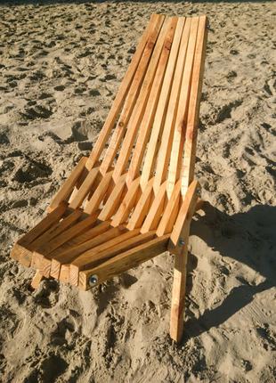 Дерев'яний складний стілець Кентуккі / Шезлонг