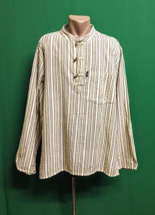 Мужская пляжная рубашка свободного кроя с карманом priya