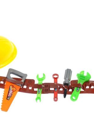 Детский набор инструментов на поясе, с каской