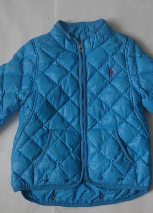 Фирменный ralph lauren пуховик деми куртка мальчику на год-пол...