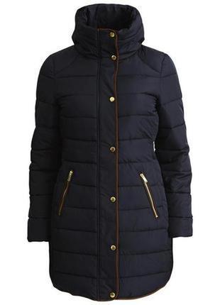 Фирменная длинная стеганная куртка пальто р.м на синтепоне vila