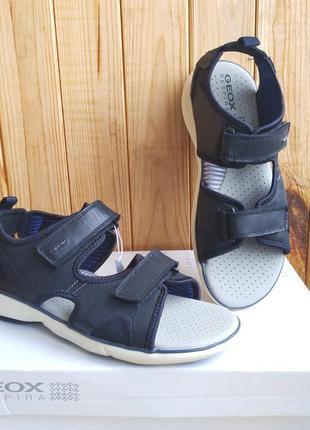 Шикарные кожаные дышащие сандалии босоножки geox оригинал