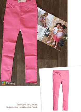 Трегинсы, брюки, штаны h&m france из твила на девочку 134см (8...
