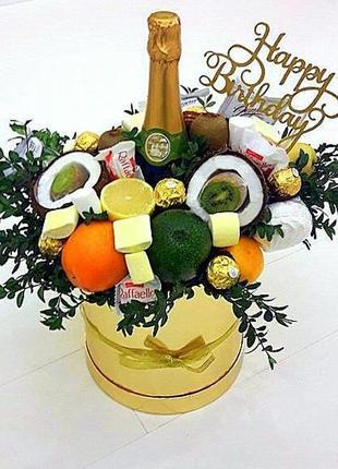 Фруктовый букет, букет из конфет, мужской букет, букет из фрук...