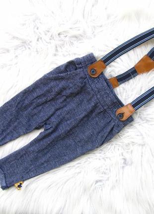 Стильные штаны брюки с подтяжками disney