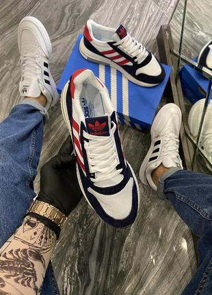 🔥 adidas zx 500 blue white red