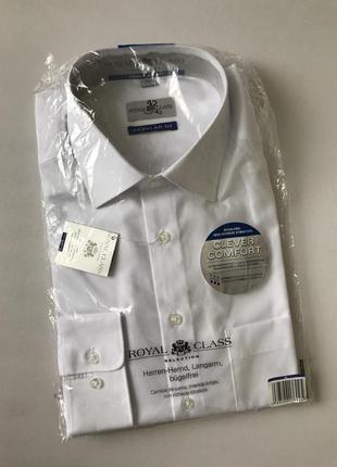 Мужская белая рубашка бизнес класса