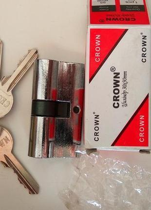 Замок , серцевина замка Цилиндр CROWN, 30/30 mm в комплекте 5 ...