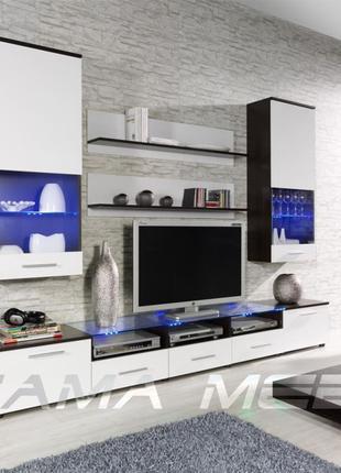 Красивая и функциональная модульная стенка в гостиную с доставкой