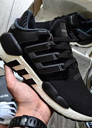 Кроссовки adidas eqt support 91/18 black (черно/белые)