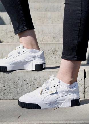 Кроссовки Puma Cali White Black