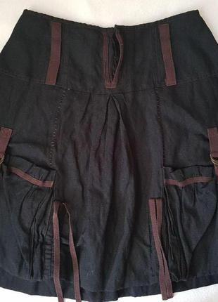 Оригинальная юбка на подкладке из катона