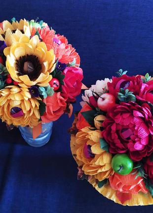 Сладкий букет цветы с конфетами подарок на 1 сентября учителю