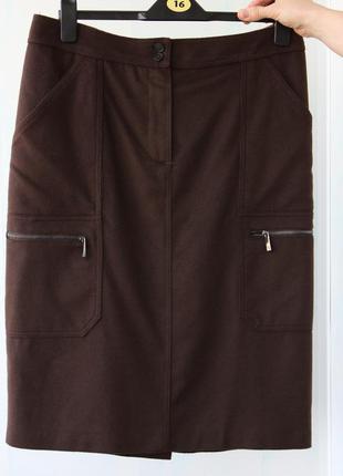 Роскошная шерстяная юбка max mara на 14 размер. оригинал.