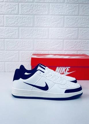 Nike air force white-black man кроссовки мужские найк аир форс