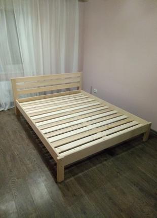 Кровать 2спальная деревянная, 160*200см, ольха