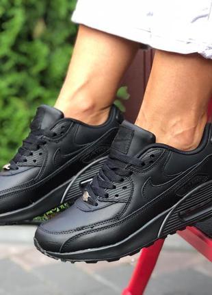 Кроссовки nike air max 90 черные, найк