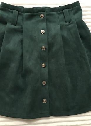 Замшевая юбка,мини юбка