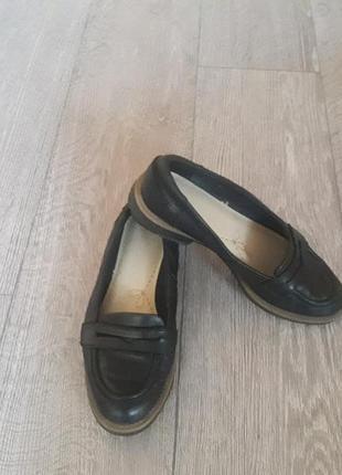 Туфли лоферы кожа clarks