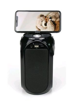 Портативная колонка, акустика GOLON RX-BT27LS с солнечной панелью