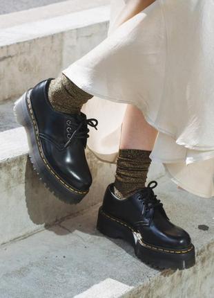Dr martens шикарные туфли на платформе из натуральной кожи
